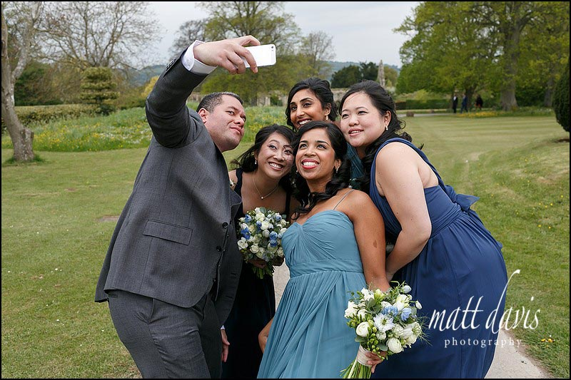 Selfie wedding photos Sudeley Castle