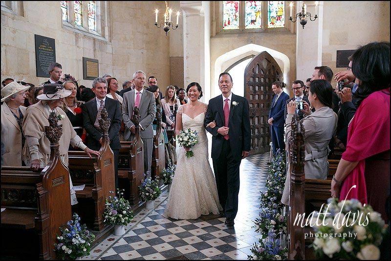 Wedding photos taken inside Sudeley Castle church