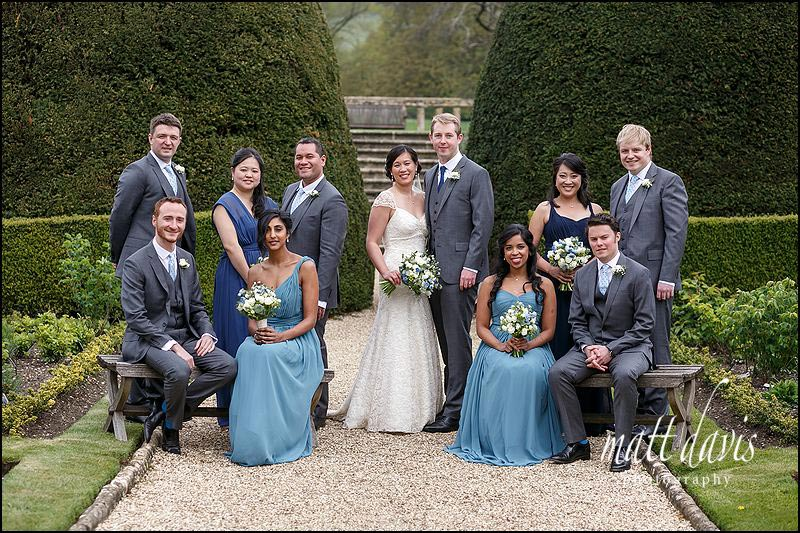 Group wedding photos taken at Sudeley Castle by Gloucestershire photographer Matt Davis