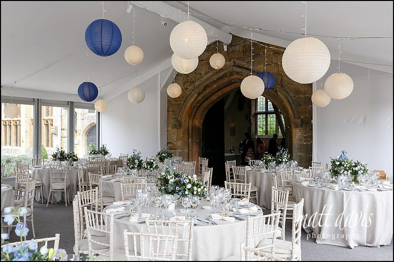 Sudeley Castle wedding marquee