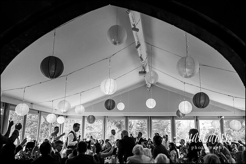Sudeley Castle wedding speeches held in the marquee