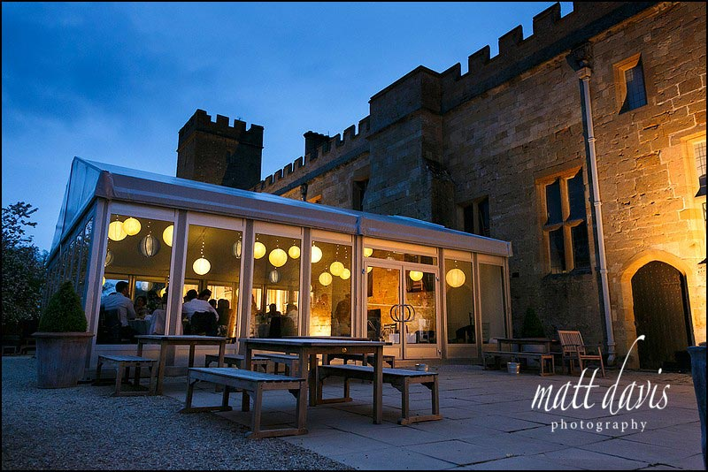 Sudeley Castle wedding breakfast marquee