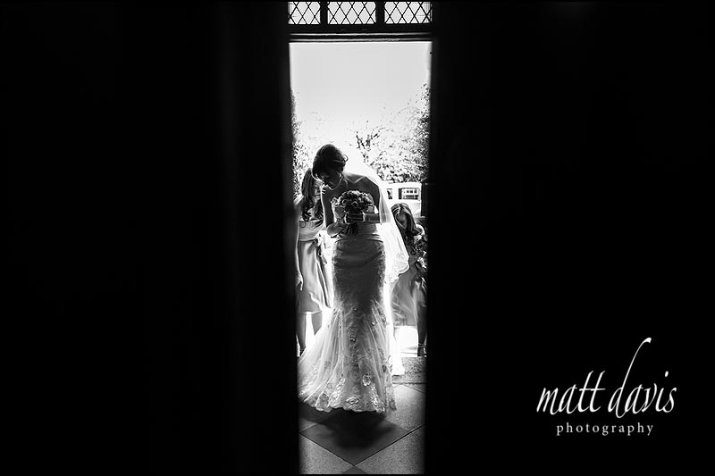 dramatic black and white Wedding photography Solihull