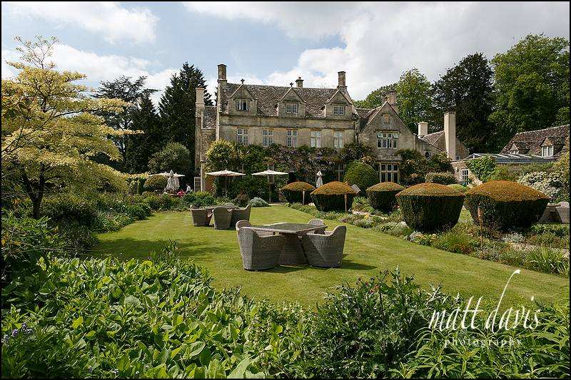 Garden wedding at Barnsley House