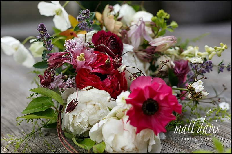 Rustic bridal bouquet for a Garden wedding at Barnsley House