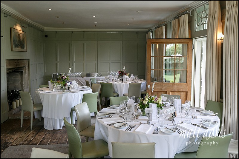 small wedding reception at Barnsley House Gloucestershire