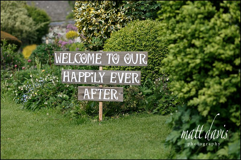 welcome to our wedding happily ever after sign
