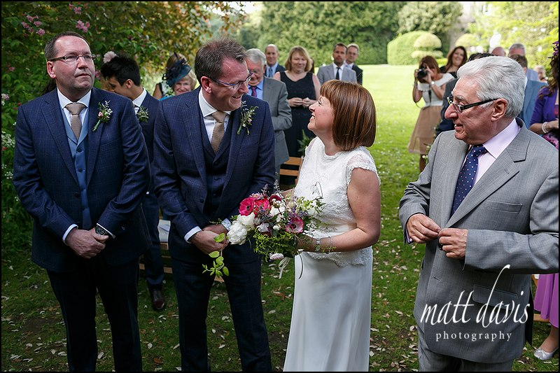 Outdoor ceremony wedding photos Barnsley House