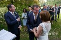 Garden wedding at Barnsley House – Paul & Heather