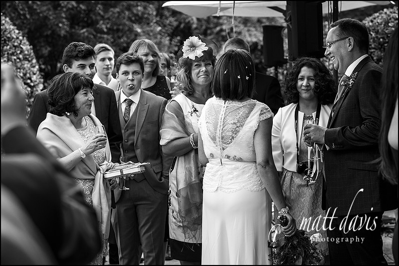 Documentary wedding photography Barnsley House