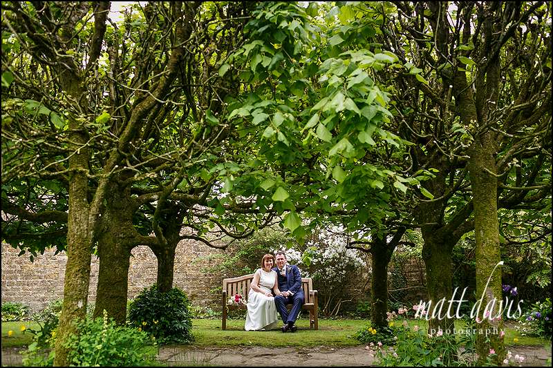 Creative wedding photos at Barnsley House
