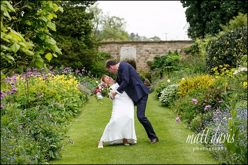 Fun wedding photos Barnsley House