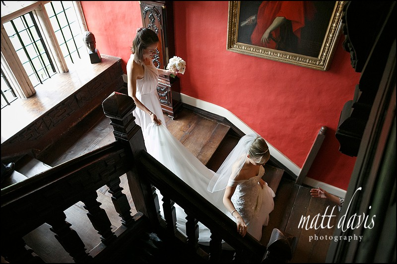 Main staircase for photos at Elmore court
