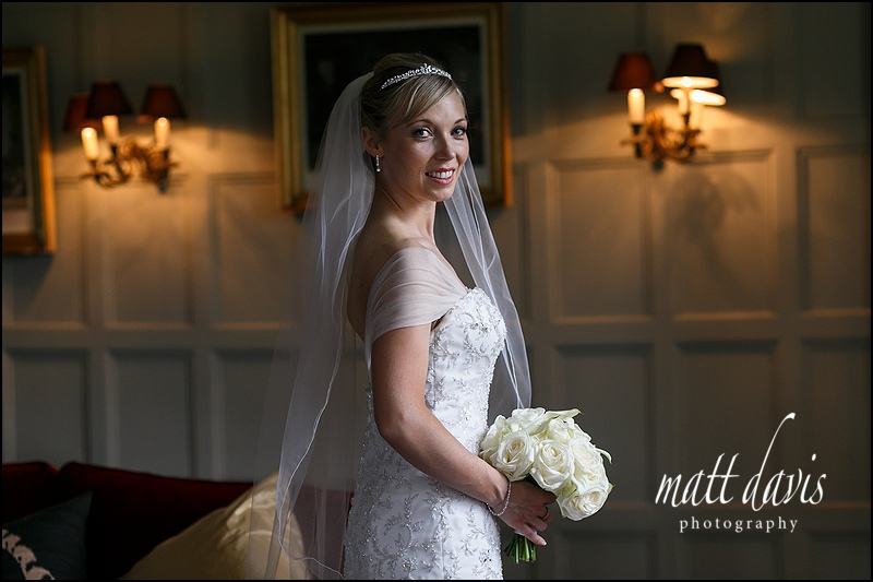 Stunning bridal portraits at Elmore Court taken by Matt Davis Photography