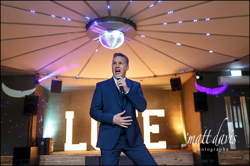 Wedding singer at Elmore Court Gloucestershire