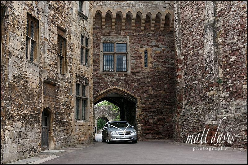 Wedding car at Berkeley Castle