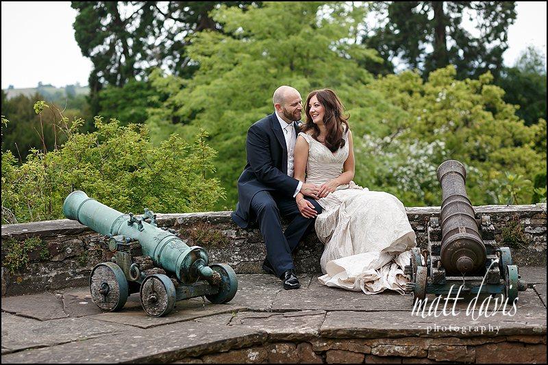 Berkeley Castle wedding photographer - photos taken on the gun terrace