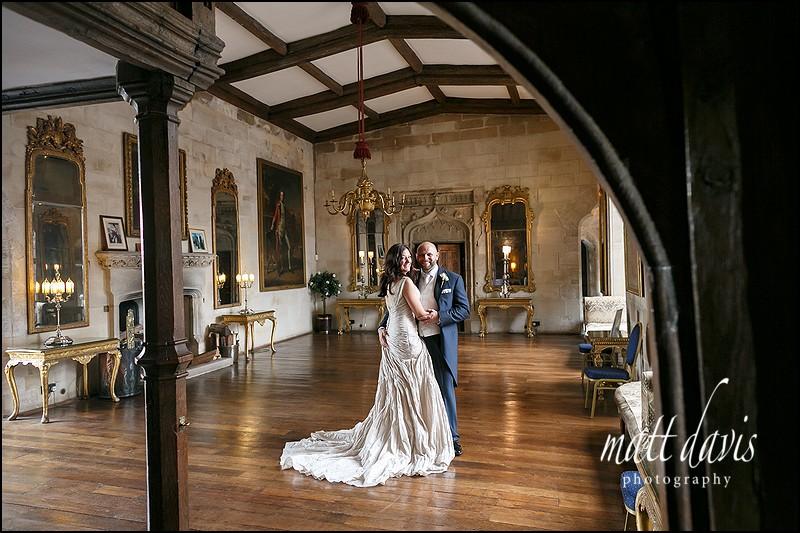 Wedding photos inside Berkeley Castle