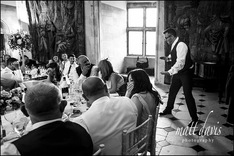 Embarrassing wedding speeches held at Berkeley Castle