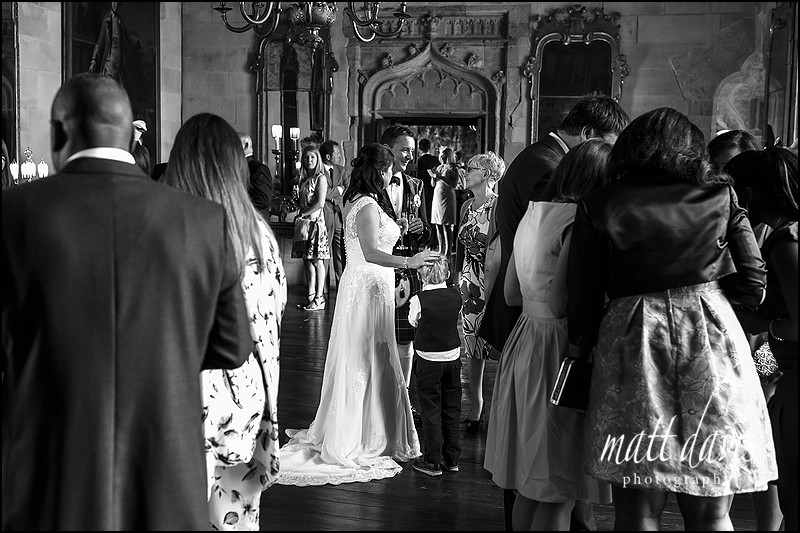 Berkeley Castle wedding photos in the main hall