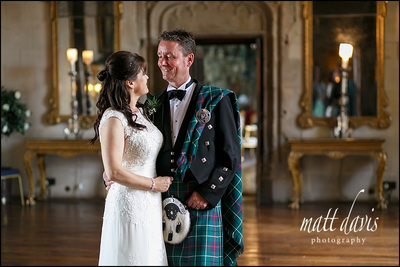 Scottish wedding held at Berkeley Castle