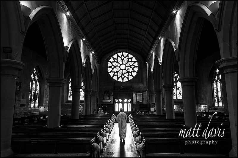 Inside St Mary's Church Charlton Kings Cheltenham