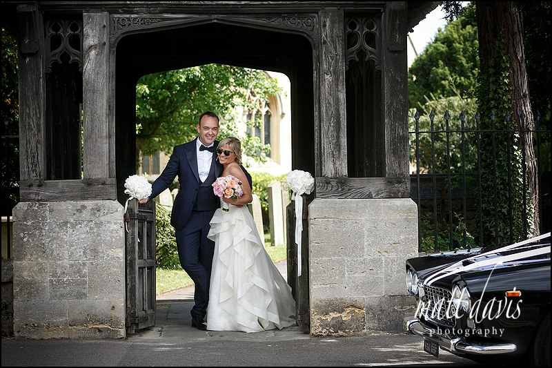 Stylish wedding photos at St Mary's Church Charlton Kings