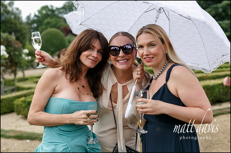 Wedding guests at Manor By The Lake, Cheltenham