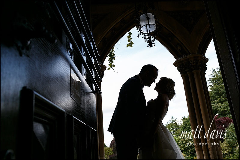 Silhouette photo of couple at Manor By The Lake wedding