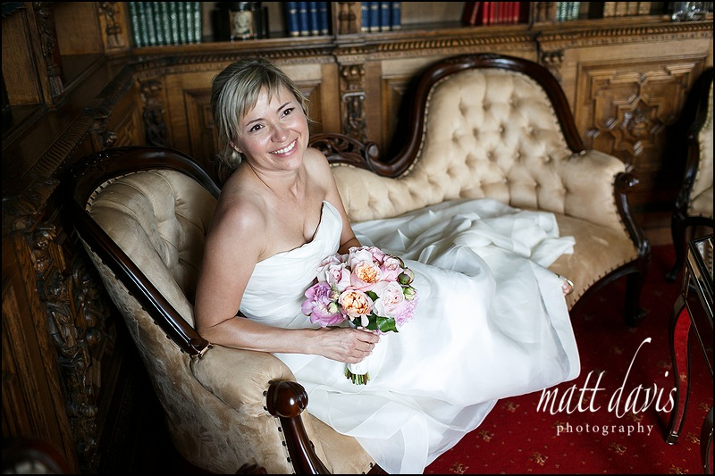 Stunning bridal portrait taken at a wedding at Manor By The Lake in Cheltenham