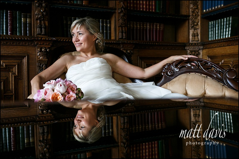 Wedding photo of bride taken at Manor By The Lake