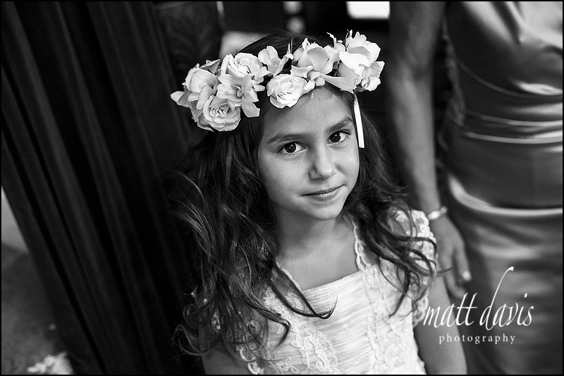 Flower headpiece for flower girls
