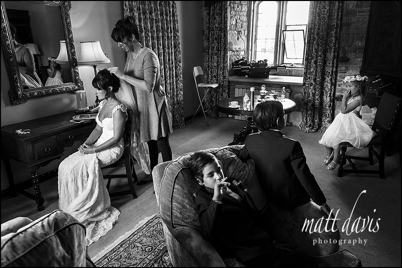 Documentary wedding photography Thornbury Castle