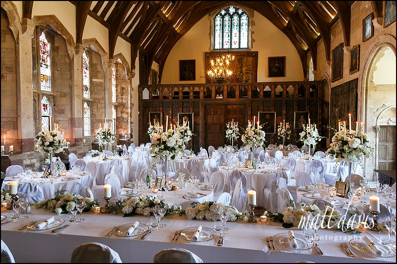 The Great Hall at Berkeley Castle looking stunning.
