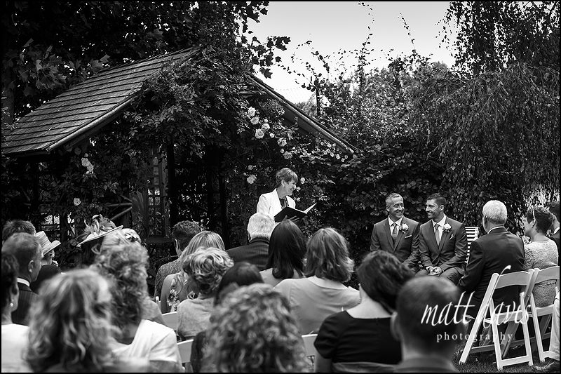 Outdoor wedding ceremony at Friars Court Oxfordshire