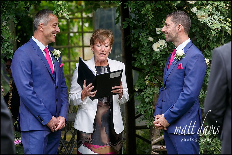 Same sex wedding at Friars Court – Pete & Nick