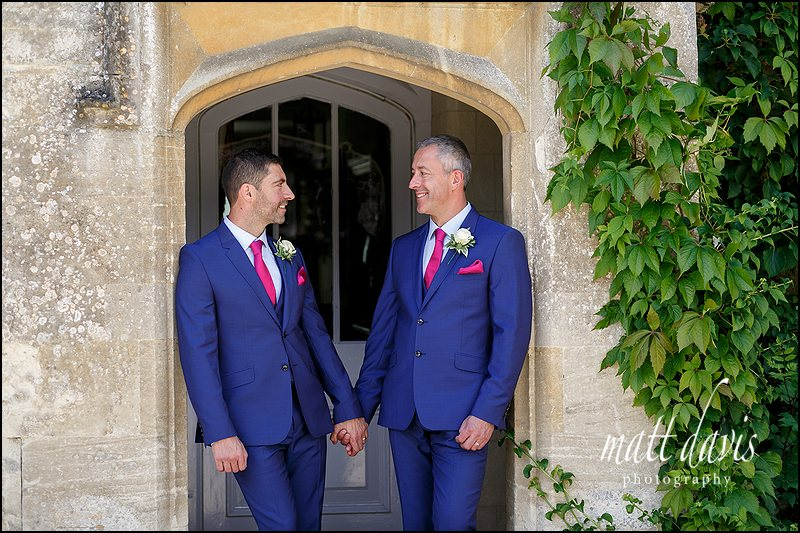 Same sex wedding photographs taken at Friars Court
