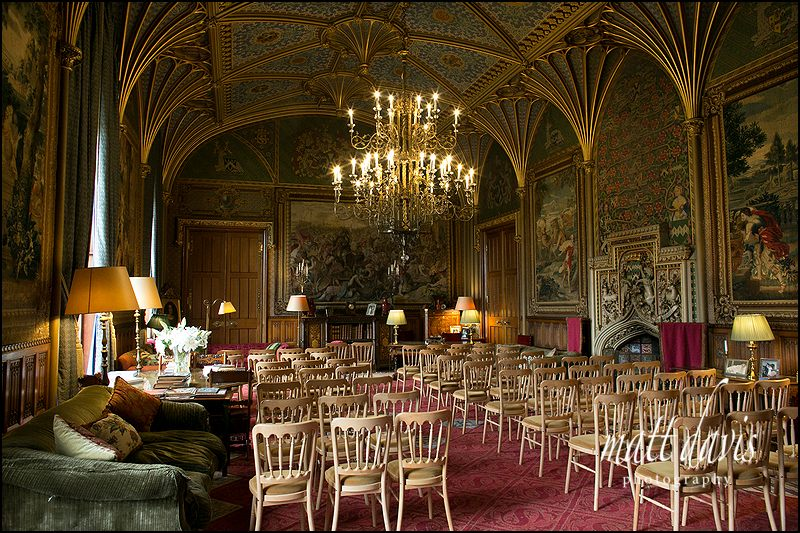 Eastnor Castle wedding civil ceremony room