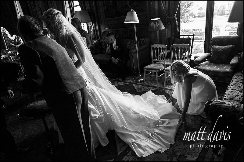 Documentary photography at Eastnor Castle wedding by Matt Davis