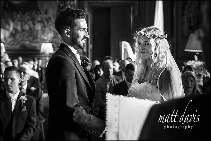 Black and white Documentary photography at Eastnor Castle wedding