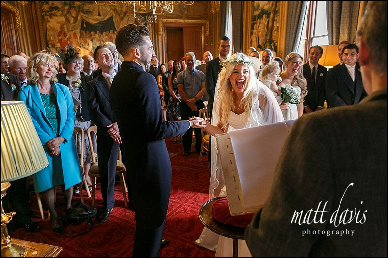 Amazing photography at Eastnor Castle wedding by Matt Davis