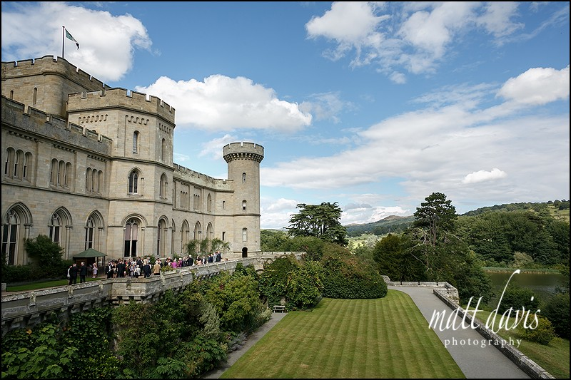 Eastnor Castle photo taken during the wedding drinks reception