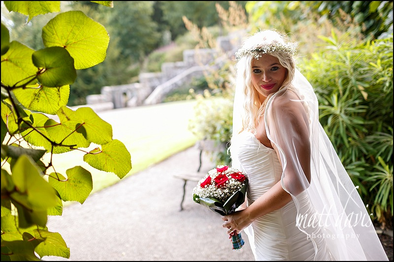 Bridal portraits taken at Eastnor Castle by Matt Davis Photography