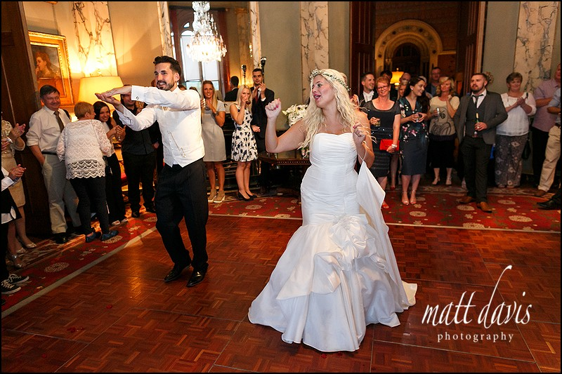 Dance floor action at Eastnor Castle Wedding