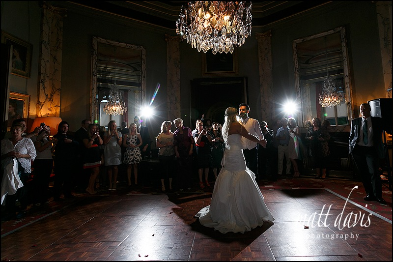 First Dance at Eastnor Castle Wedding