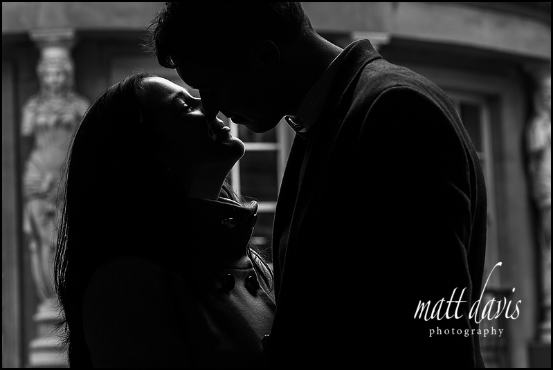 Stunning black and white Engagement photos in Cheltenham by Matt Davis Photography