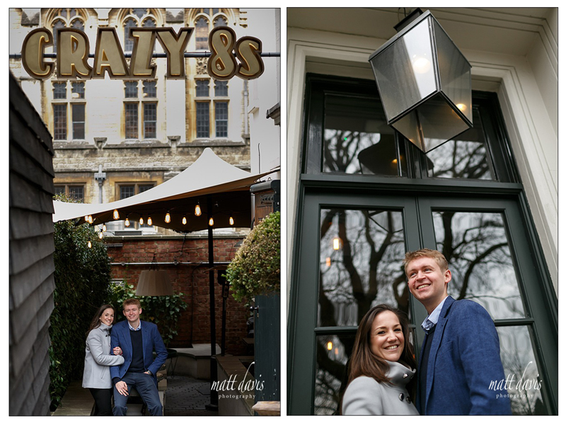 Engagement photos taken at Crazy 8's in Cheltenham, Gloucestershire by Matt Davis Photography