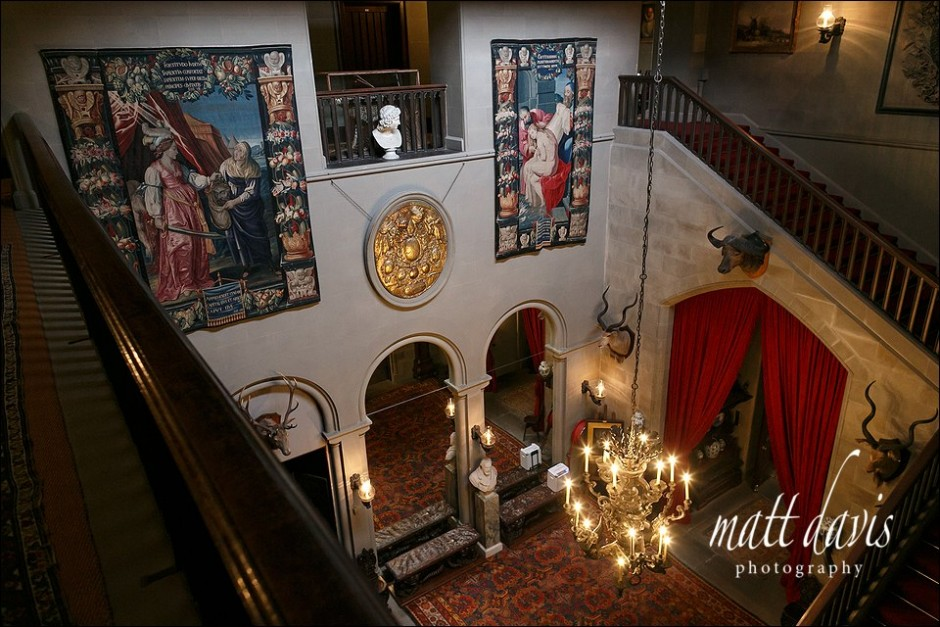 Eastnor Castle wedding venue interior