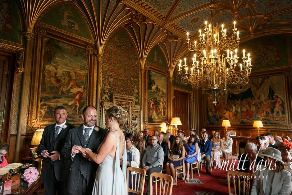 Wedding ceremony at Eastnor Castle
