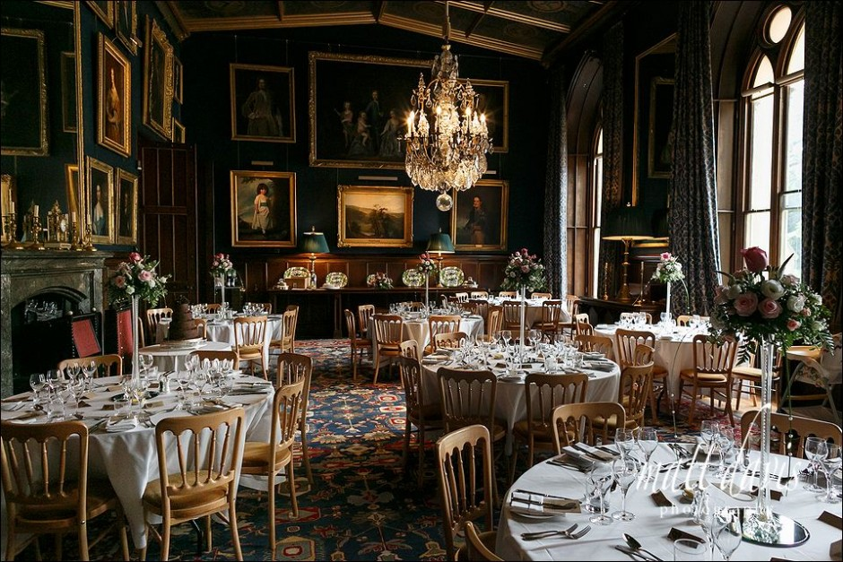 wedding breakfast at Eastnor Castle